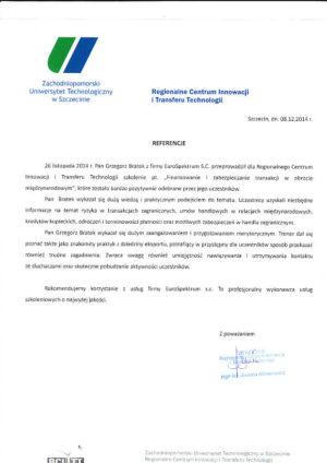 ZUT szkolenia eksportowe opinia2